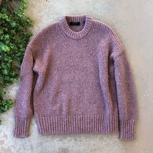 ALLSAINTS Oversized Knit Crewneck Pullover Sweater